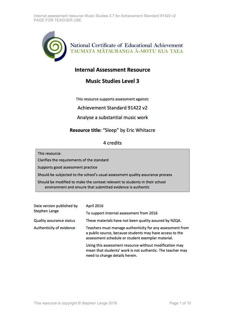 Sleep 91422 v2 Internal Assessment Task Cover Page