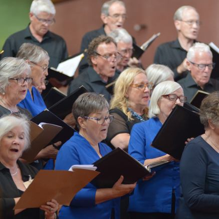 The combined choirs in concert
